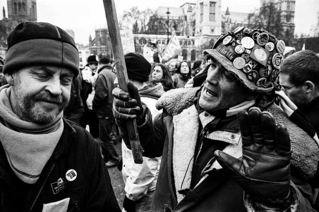 Brian William Haw was an English protester and peace campaigner who lived for almost ten years in a peace camp in London's Parliament Square from 2001, in a protest against UK and US foreign policy. In 2007, Brian Haw won the Channel 4 News award for Most Inspiring Political Figure (2004). Image © Thaddeus Pope